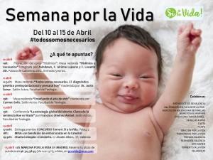 Actos Semana por la Vida. Valencia, 10-15-abril-2018